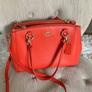 Coach Leather 2-way bag, orange
